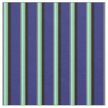 [ Thumbnail: Dim Gray, Aquamarine, Dark Sea Green, Black & Blue Fabric ]