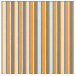 [ Thumbnail: Dim Gray, Beige & Dark Orange Pattern Fabric ]
