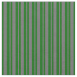 [ Thumbnail: Dim Gray & Dark Green Colored Pattern Fabric ]