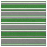 [ Thumbnail: Dim Gray, Dark Green & Light Yellow Colored Lines Fabric ]