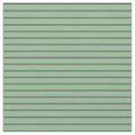 [ Thumbnail: Dim Gray & Dark Sea Green Pattern of Stripes Fabric ]