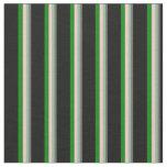 [ Thumbnail: Dim Gray, Dark Sea Green, Pink, Green & Black Fabric ]