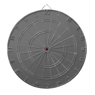 Dim Gray Dartboard with Darts