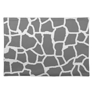 Dim Gray Giraffe Animal Print Placemats