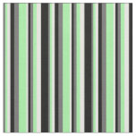 [ Thumbnail: Dim Gray, Green, Mint Cream, and Black Colored Fabric ]