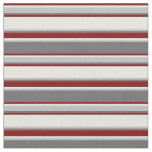 [ Thumbnail: Dim Gray, Grey, Beige, and Maroon Colored Lines Fabric ]