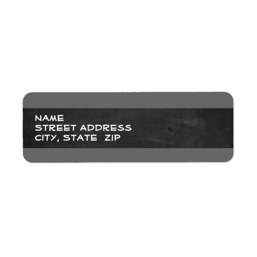 Dim Gray Horizontal Stripes; Vintage Chalkboard Return Address Labels