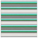 [ Thumbnail: Dim Gray, Light Cyan, Cyan & Dark Green Colored Fabric ]