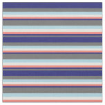 [ Thumbnail: Dim Gray, Midnight Blue, Salmon, Light Cyan & Blue Fabric ]