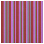 [ Thumbnail: Dim Gray, Orchid, and Dark Red Stripes Pattern Fabric ]