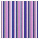 [ Thumbnail: Dim Gray, Orchid, Light Cyan & Dark Blue Lines Fabric ]
