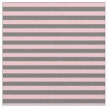 [ Thumbnail: Dim Gray & Pink Lines/Stripes Pattern Fabric ]