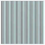 [ Thumbnail: Dim Gray & Powder Blue Colored Stripes Fabric ]