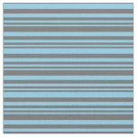 [ Thumbnail: Dim Gray & Sky Blue Colored Lined Pattern Fabric ]