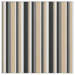 [ Thumbnail: Dim Gray, Tan, Lavender & Black Colored Lines Fabric ]