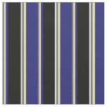 [ Thumbnail: Dim Gray, Tan, Midnight Blue, Black, and White Fabric ]