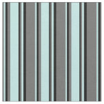 [ Thumbnail: Dim Gray, Turquoise, and Black Lines Fabric ]