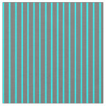 [ Thumbnail: Dim Grey and Aqua Colored Pattern Fabric ]