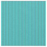 [ Thumbnail: Dim Grey and Aqua Lines Pattern Fabric ]