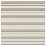 [ Thumbnail: Dim Grey and Beige Lined/Striped Pattern Fabric ]