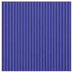 [ Thumbnail: Dim Grey and Dark Blue Lines Fabric ]