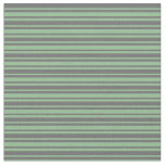 [ Thumbnail: Dim Grey and Dark Sea Green Lines Fabric ]