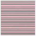 [ Thumbnail: Dim Grey and Light Pink Colored Lines Fabric ]