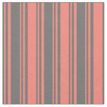 [ Thumbnail: Dim Grey and Salmon Colored Pattern Fabric ]