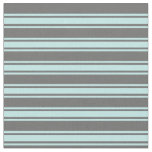 [ Thumbnail: Dim Grey and Turquoise Lined Pattern Fabric ]