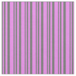 [ Thumbnail: Dim Grey and Violet Colored Lines Pattern Fabric ]