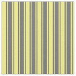 [ Thumbnail: Dim Grey and Yellow Striped/Lined Pattern Fabric ]