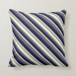 [ Thumbnail: Dim Grey, Beige, Dark Gray, Black & Midnight Blue Throw Pillow ]