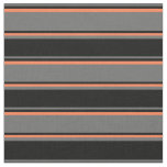 [ Thumbnail: Dim Grey, Black, and Coral Colored Pattern Fabric ]