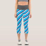 [ Thumbnail: Dim Grey, Blue, Grey, Mint Cream & Deep Sky Blue Leggings ]