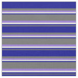 [ Thumbnail: Dim Grey, Dark Blue, Light Cyan & Purple Lines Fabric ]