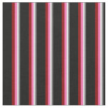 [ Thumbnail: Dim Grey, Lavender, Hot Pink, Dark Red, and Black Fabric ]