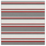 [ Thumbnail: Dim Grey, Light Cyan, and Dark Red Colored Lines Fabric ]