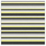 [ Thumbnail: Dim Grey, Light Cyan, Yellow & Black Pattern Fabric ]