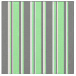 [ Thumbnail: Dim Grey, Light Green, and Light Cyan Pattern Fabric ]