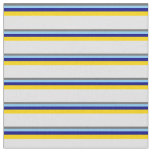 [ Thumbnail: Dim Grey, Light Sky Blue, Blue, Yellow & Lavender Fabric ]