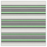 [ Thumbnail: Dim Grey, Light Yellow, Black & Green Pattern Fabric ]