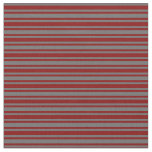 [ Thumbnail: Dim Grey & Maroon Striped/Lined Pattern Fabric ]