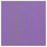 [ Thumbnail: Dim Grey & Purple Colored Stripes/Lines Pattern Fabric ]