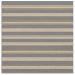 [ Thumbnail: Dim Grey & Tan Colored Lines Pattern Fabric ]