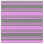 [ Thumbnail: Dim Grey & Violet Colored Lines/Stripes Pattern Fabric ]