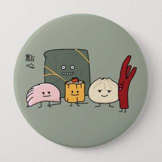 Dim Sum Pork Bao Shaomai Chinese dumpling Buns Bun Pinback Button