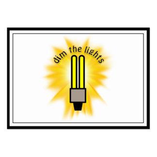 Dim The 2u Energy Saving Light Business Cards