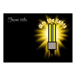 Dim The 2u Energy Saving Light Business Card Templates