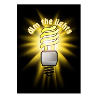 Dim The Energy Saving Light Business Card