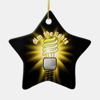 Dim The Energy Saving Light Double-Sided Star Ceramic Christmas Ornament